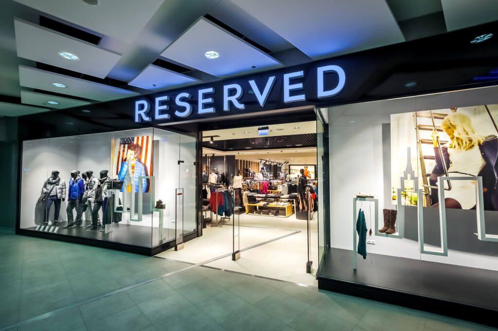 wyposażenie sklep Reserved