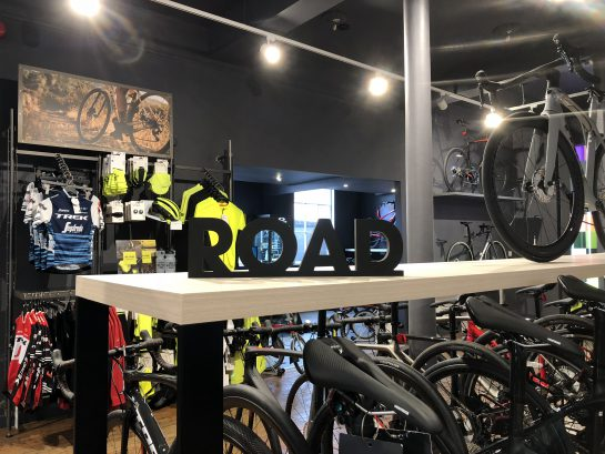 Salon Trek Bicycle w Shrewsbury przygotowany przez Ergo Store